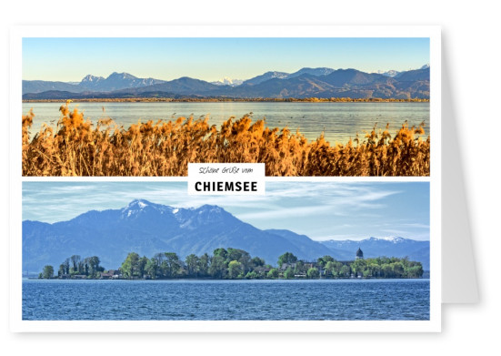 2 fotos vom chiemsee