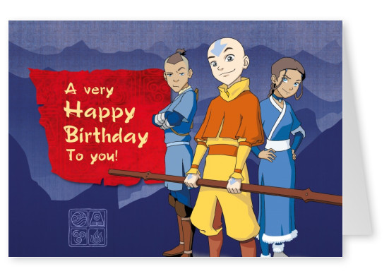 AVATAR: The Last Airbender Postkarte A very Happy Birthday To you