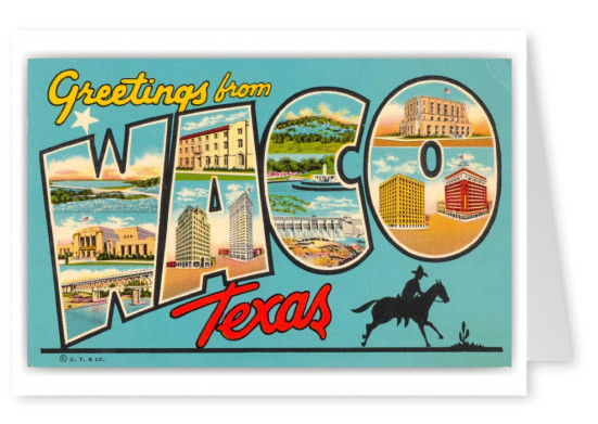 Waco Texas Greetings Large Letter
