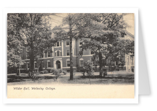 Wellesley, Massachusetts, Wilder Hall, Wellesley College