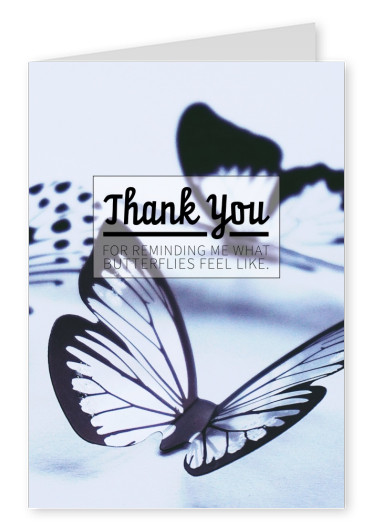 Postkarte Spruch Thank you for reminding me what butterflies feel like