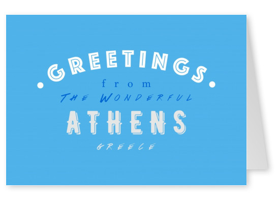Greetings from the wonderful Athens