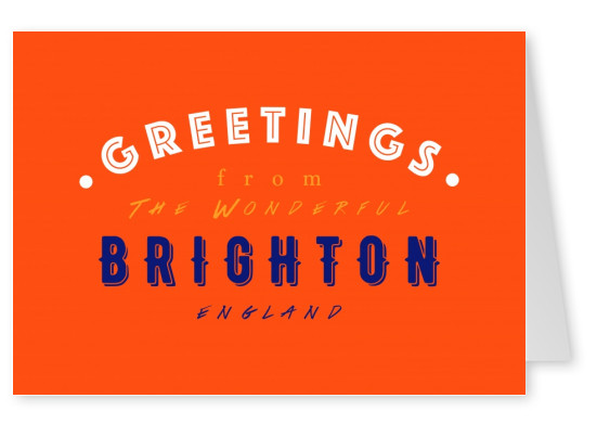 Greetings from the wonderful Brighton