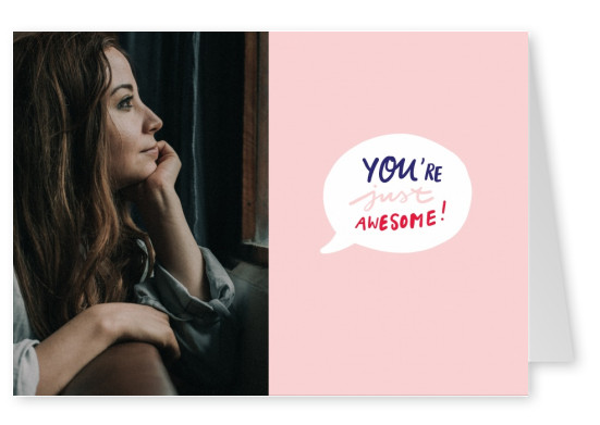YOU ARE JUST AWESOME handgeschrieben