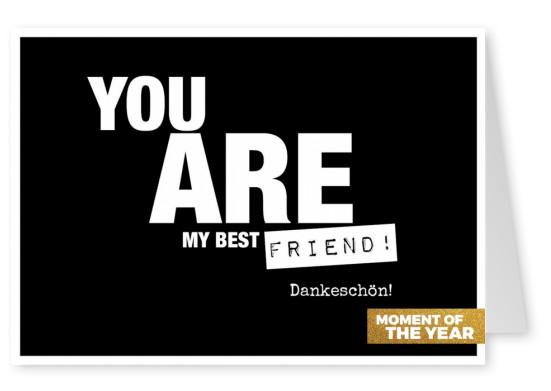 you are my best friend postkarte