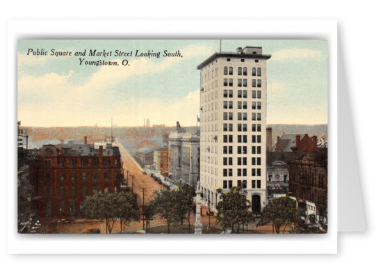 Youngstown, Ohio, Public Sqaure and Market Street looking south