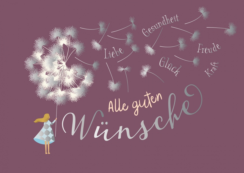 Illustration Kind mit Pusteblume