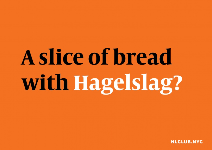 A slice of bread with Hagelslag?