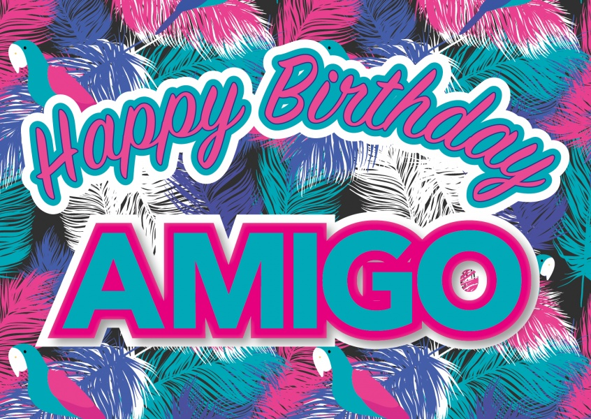 happy birthday amigo birthday card
