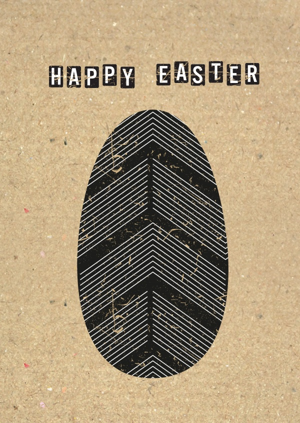 happy easter with Easter egg on cardboard