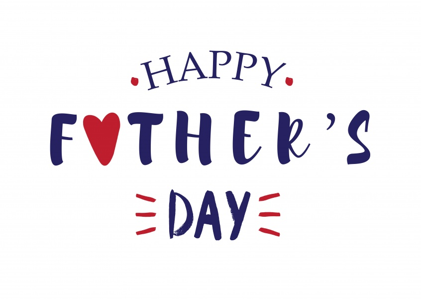 Happy Fathers Day Mixed Fonts