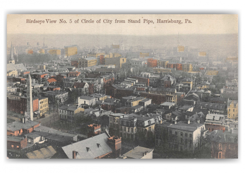 Harrisburg, Pennsylvania, birds eye view from Stand Pipe