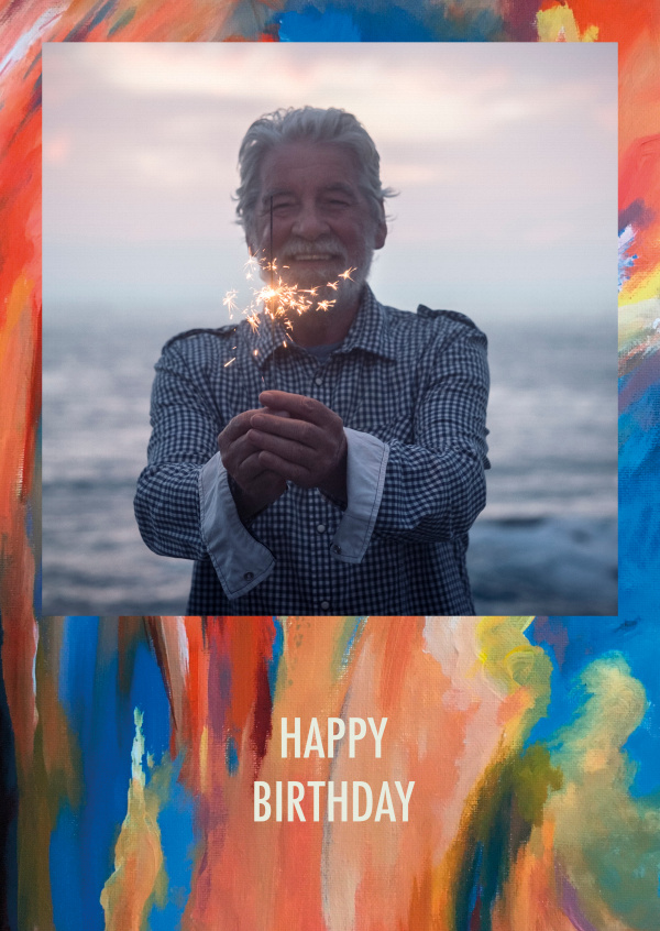 postcard Christin-Marie Arold Happy Birthday