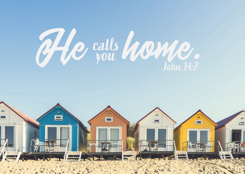 postcard SegensArt He calls you home John 14:2
