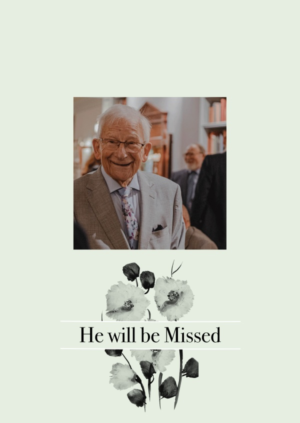 He will be missed