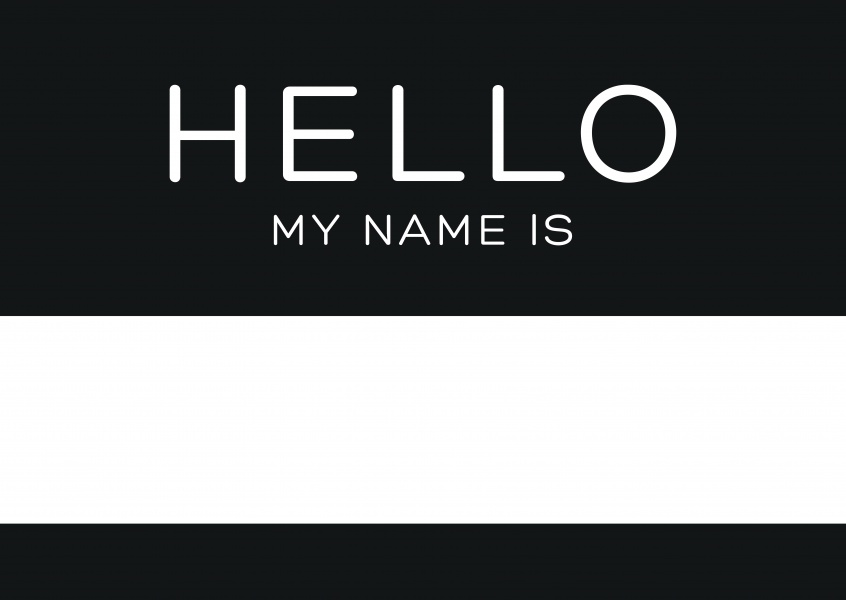 hello my name is black just because cards send real postcards