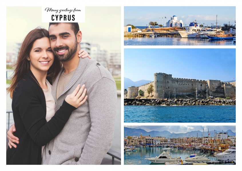 Kyrenia in Cyprus - harbour city and castle in three photos