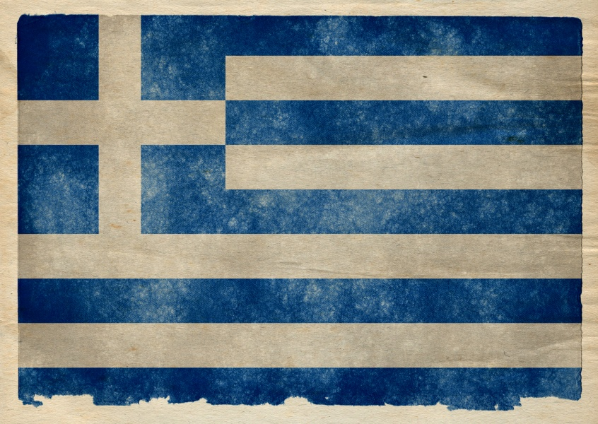 Greek flag grungy style