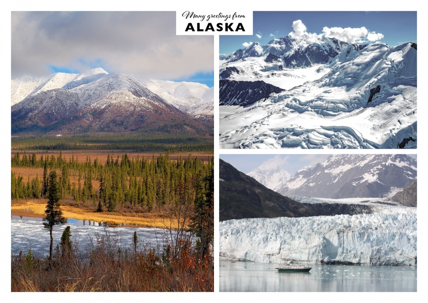 Snowy and frosted Alaska in three photos