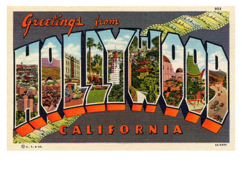 Curt Teich Postcard Archives Collectiongreetings from Hollywod California