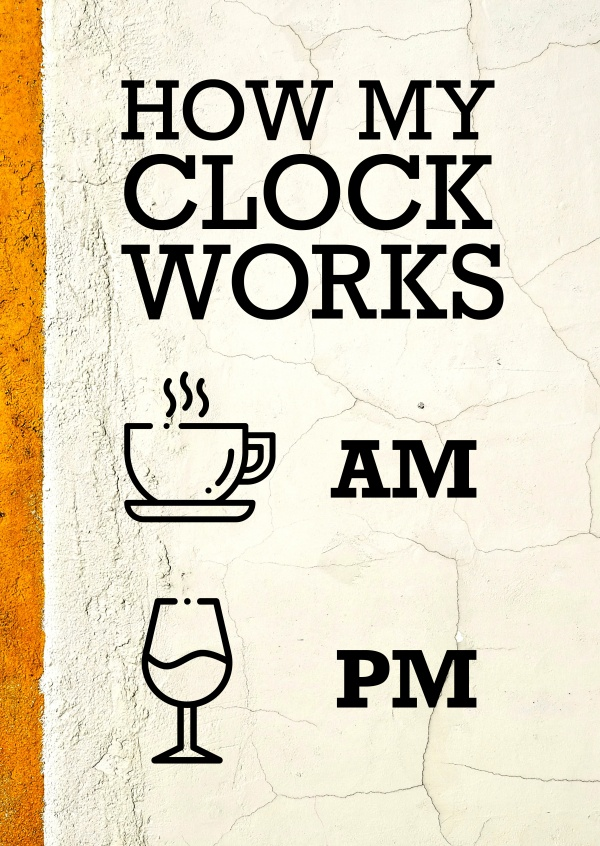 How my clock works Spruchkarte