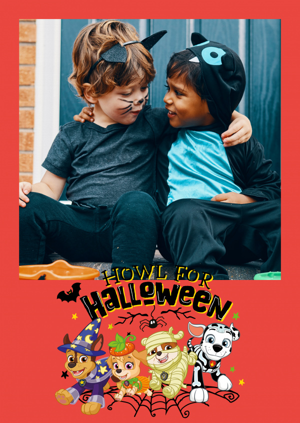 PAW Patrol postcard Howl for Halloween