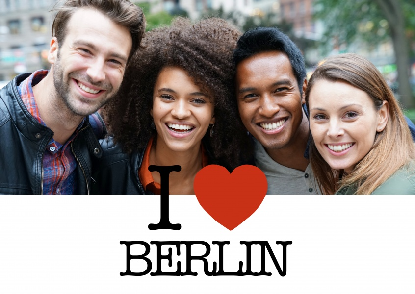 I love Berlin Postcard