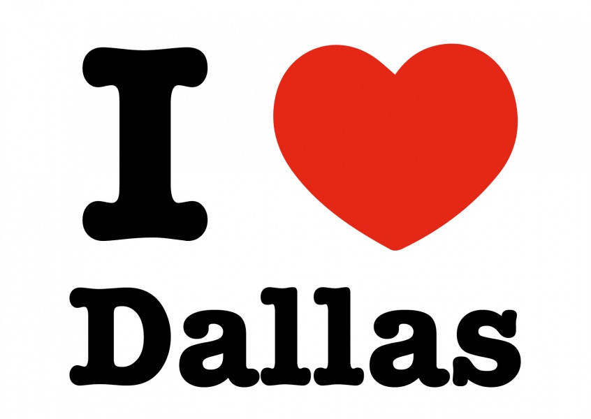 i love dallas postcard
