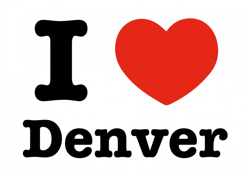 i love denver postkarte