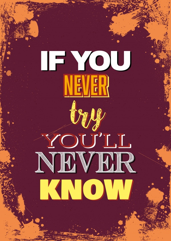 Vintage: If you never try you will never knoe