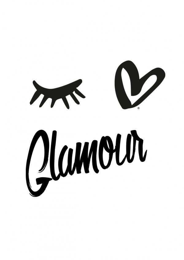 illustration Eye-love glamour