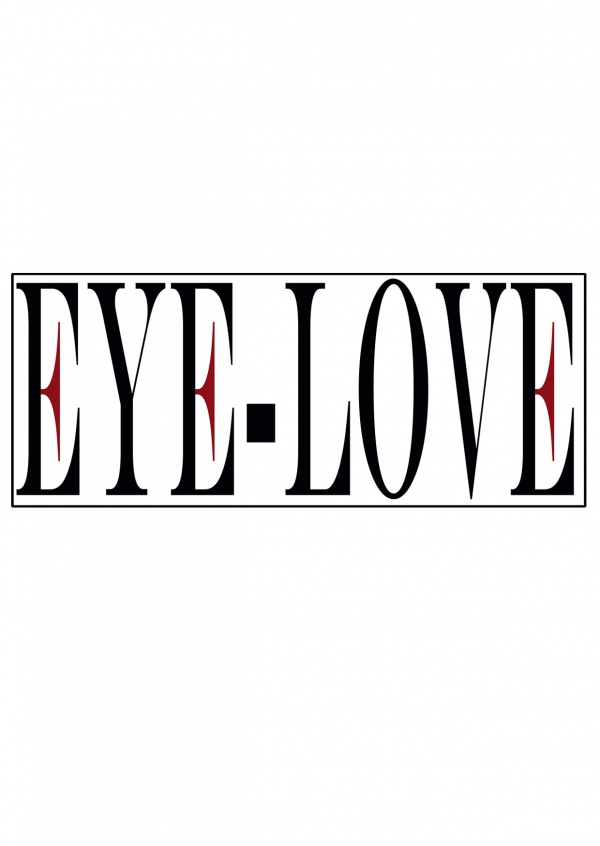illustration Eye-love logo white