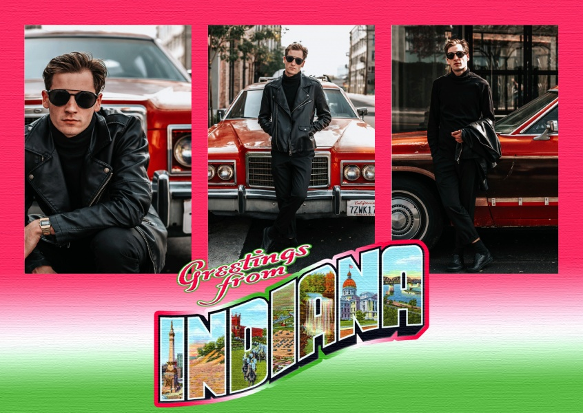 Large Letter Postcard Site – Greetings from Indiana