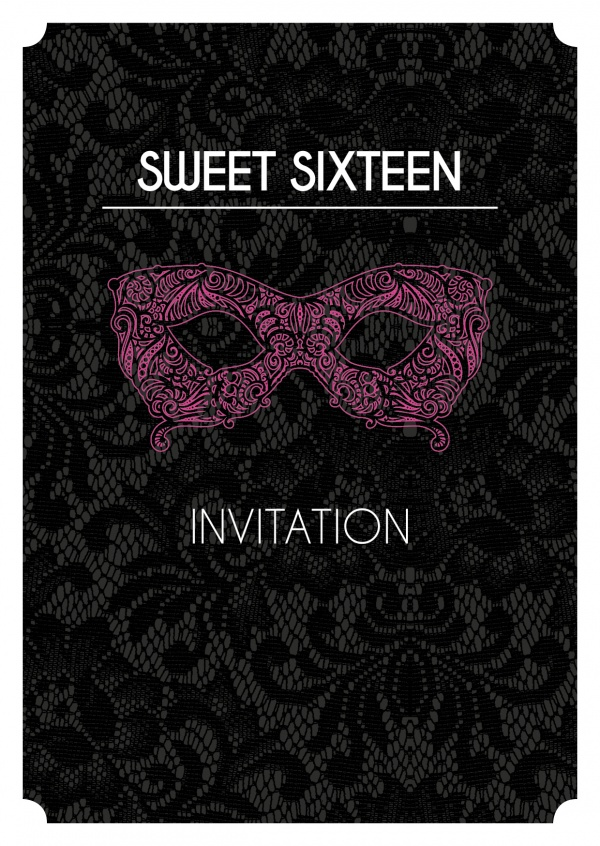 Sweet sixteen party black lace