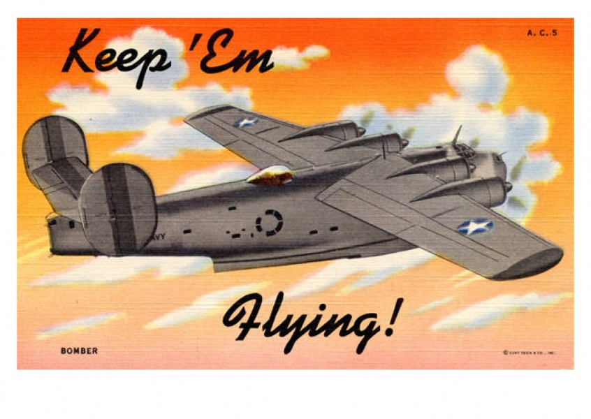 Curt Teich Postcard Archives Collection keep em flying