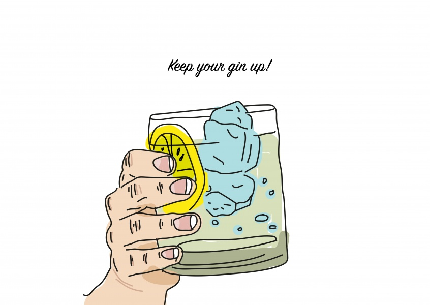 Card with gin on it