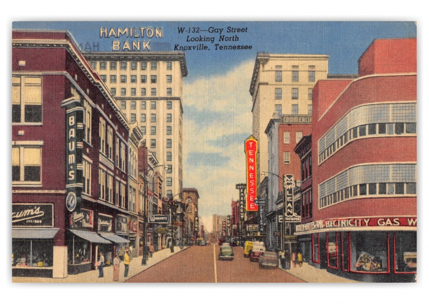 Knoxville, Tennessee, Gay Street looking north