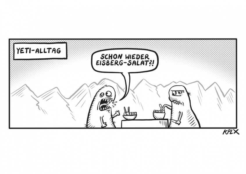 KPLX Eisbergsalat Yet Comic