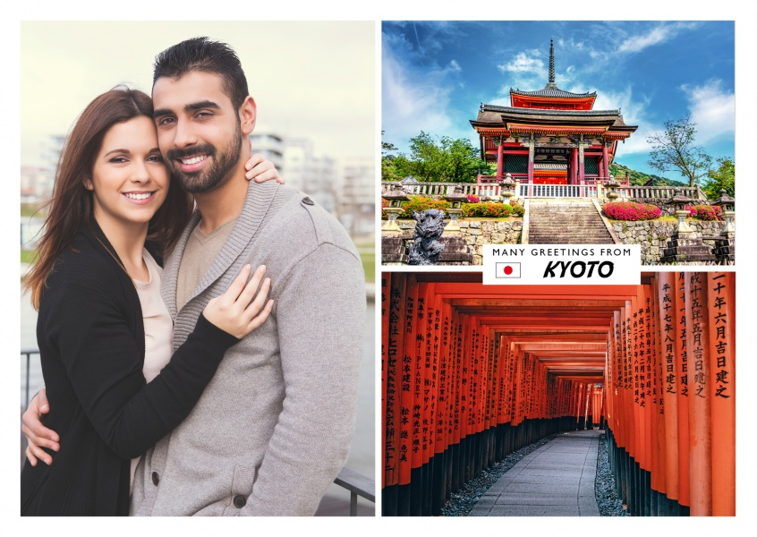 Kyoto photocollage temple torii