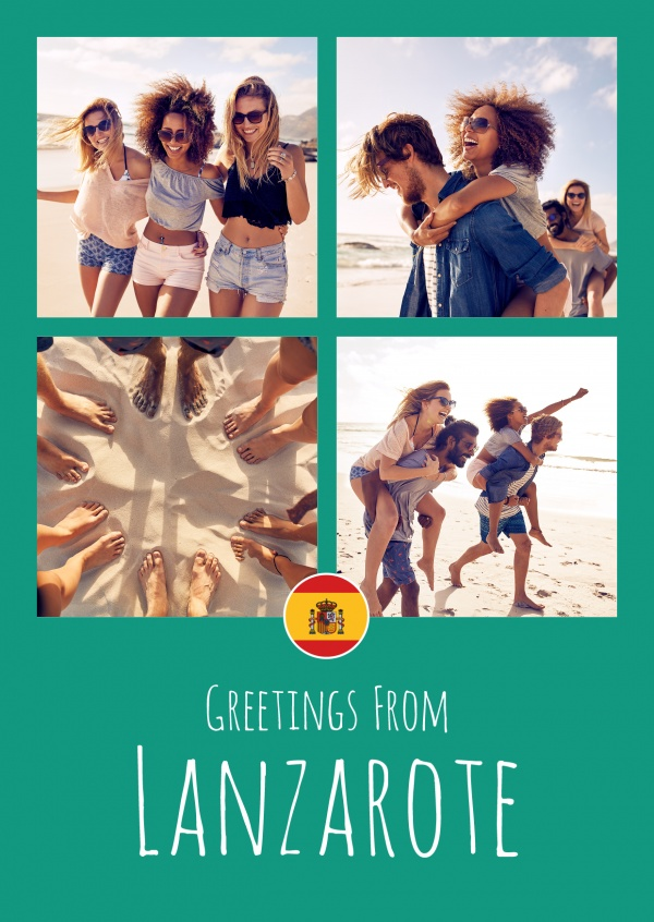 greeting card Greetings from Lanzarote