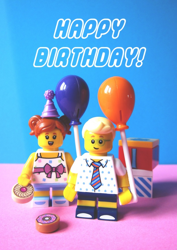 Lego Happy Birthday Vraies Cartes Postales En Ligne