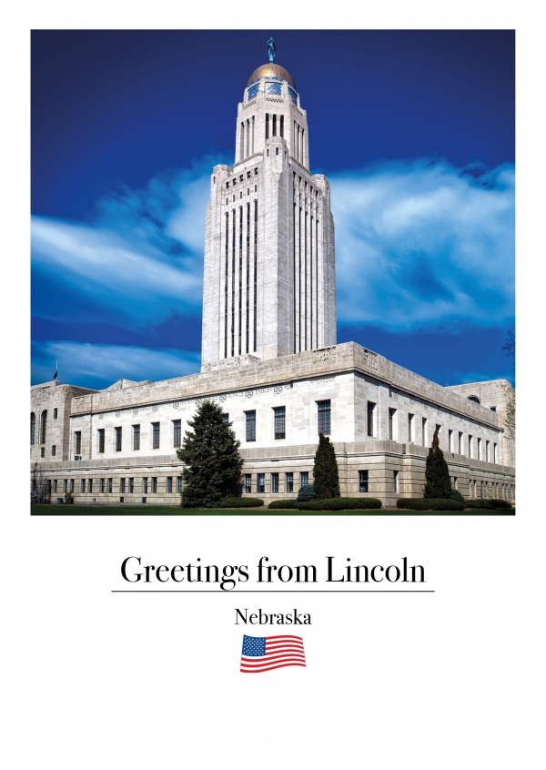 photo of the capitol building in Lincoln Nebraska
