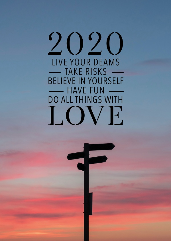 Live Your Dreams Take Risks Believe In Yourself New Year Cards 2020 Send Real Postcards Online