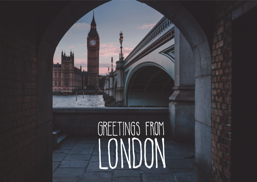 greetingcardwith a picture from london