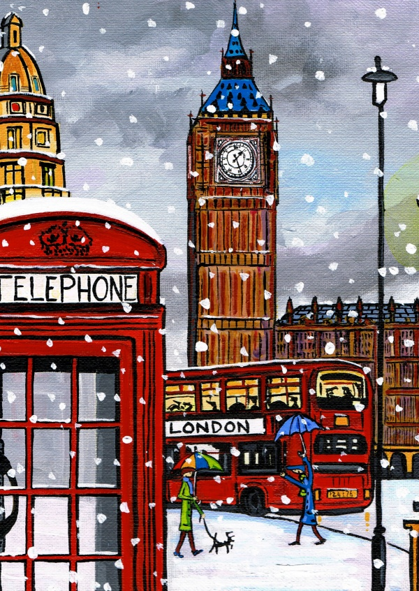 Illustration du Sud de Londres, l'Artiste Dan London calling