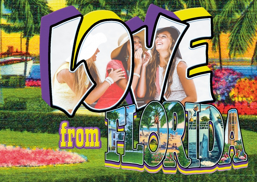 Large Letter Postcard Site Love from Florida