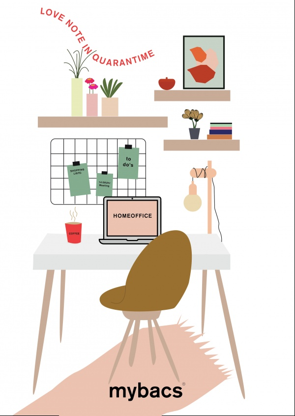 Love note in quarantime - Home Office
