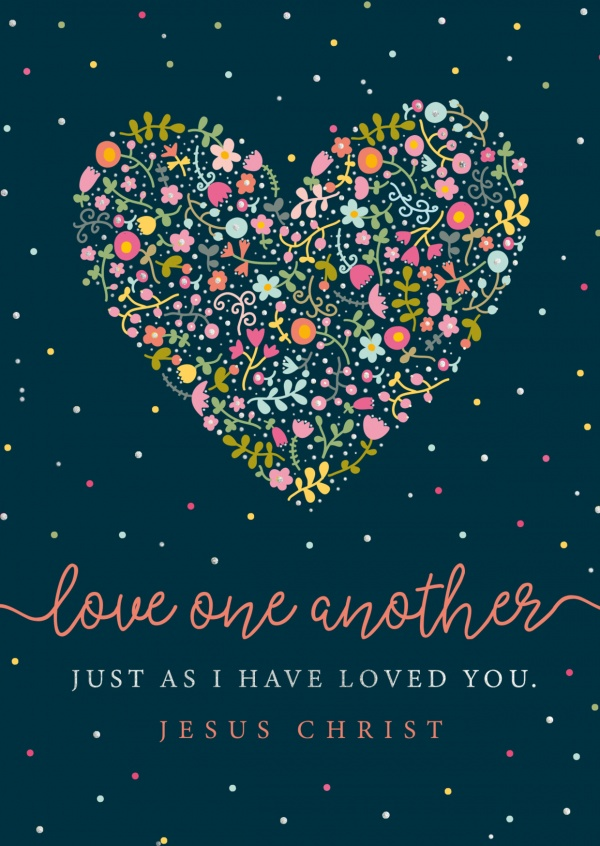 postcard Love one another just as I have loved you