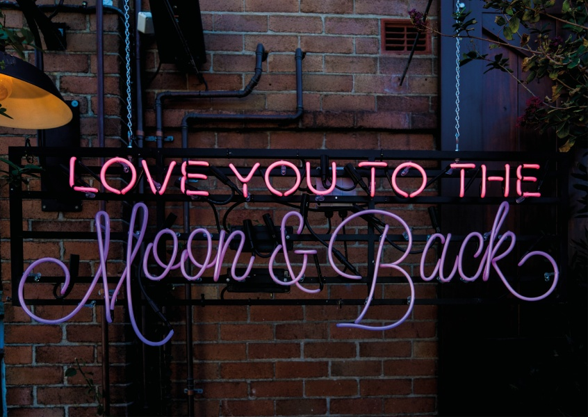 photo love quote postcard  love you to the moon and back