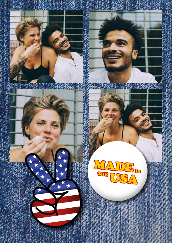 made in the USA quote photopostcard